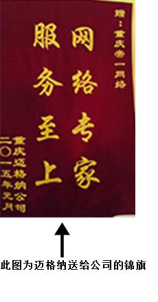 重庆网络推广专家锦旗