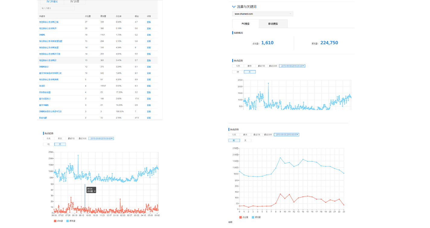 网站流量分析图所图